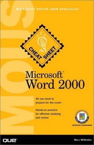 Microsoft Word 2000 By Mary Millhollon