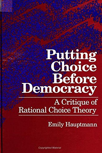 Putting Choice Before Democracy By Emily Hauptmann