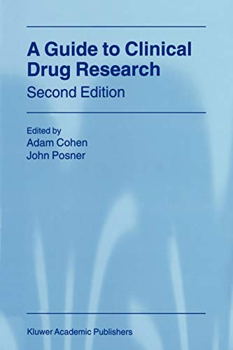 A Guide to Clinical Drug Research By A. Cohen