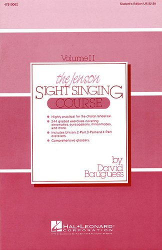 The Jenson Sightsinging Course By David Bauguess