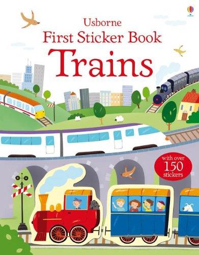 First Sticker Book Trains By Sam Taplin
