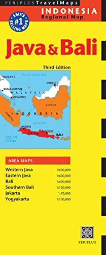 Java & Bali Travel Map Third Edition By Periplus Editors