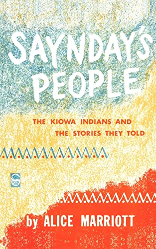 Saynday's People By Alice Marriott