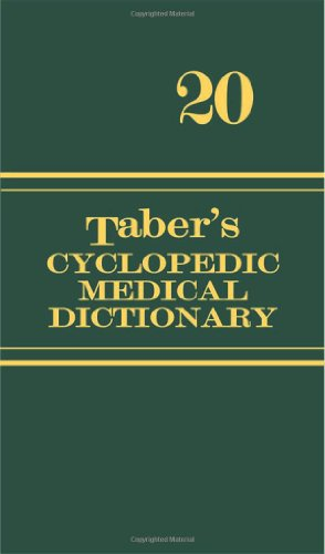 Taber's Cyclopedic Medical Dictionary By Edited by Clayton L. Thomas