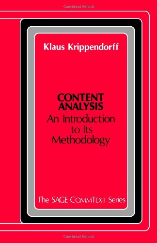 Content Analysis By Klaus Krippendorff