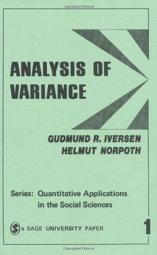 Analysis of Variance By Gudmund R. Iversen