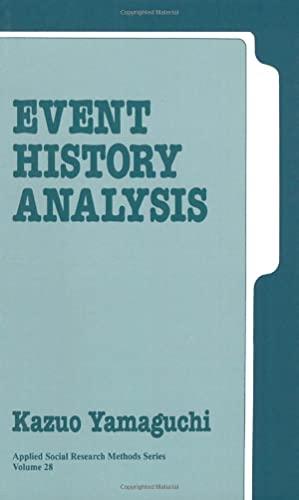 Event History Analysis By Kazuo Yamaguchi