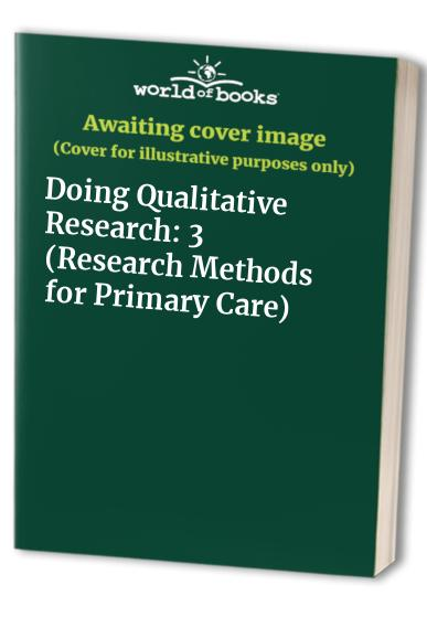 Doing Qualitative Research By Edited by Benjamin F. Crabtree