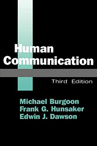 Human Communication By Michael Burgoon