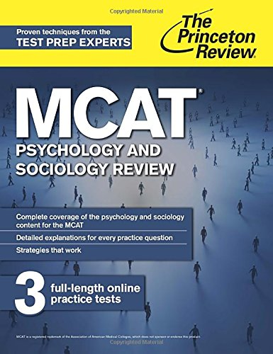 MCAT Psychology and Sociology Review (Graduate School Test Preparation) By Princeton Review