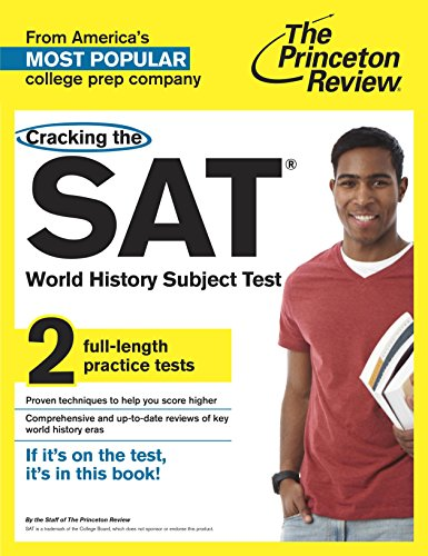 Cracking The Sat World History Subject Test By Princeton Review