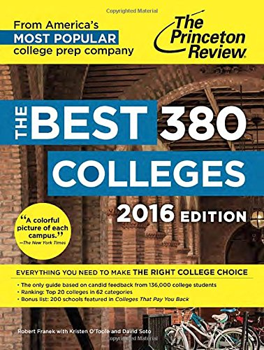 The Best 379 Colleges, 2016 Edition By Princeton Review