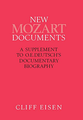 New Mozart Documents By Assistant Professor of Music Cliff Eisen