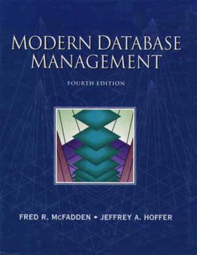 MODERN DATABASE MANAGEMENT By Fred R. McFadden