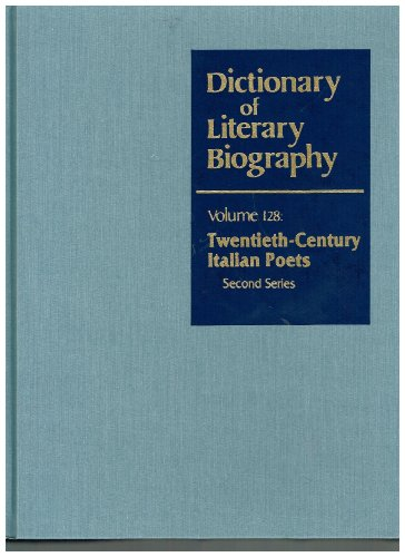 Dictionary of Literary Biography By Giovanna Wedel De Stasio