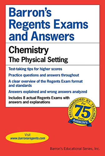 Regents Exams and Answers: Chemistry By Albert Tarendash, M.S.