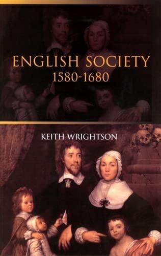 English Society By Keith Wrightson
