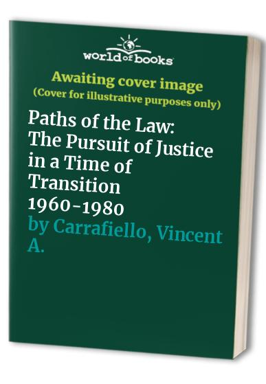 Paths of the Law By Vincent A. Carrafiello