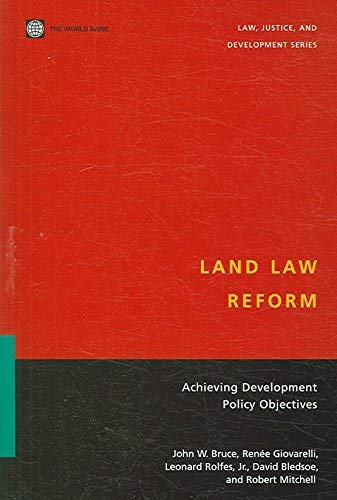 Land Law Reform By John W. Bruce