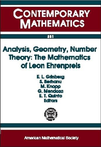 Analysis, Geometry, Number Theory By Edited by E. Grinberg