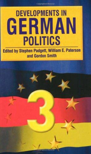 Developments in German Politics 3 By Edited by Stephen Padgett
