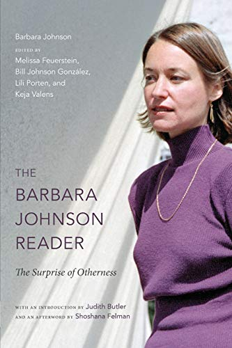 The Barbara Johnson Reader By Barbara Johnson