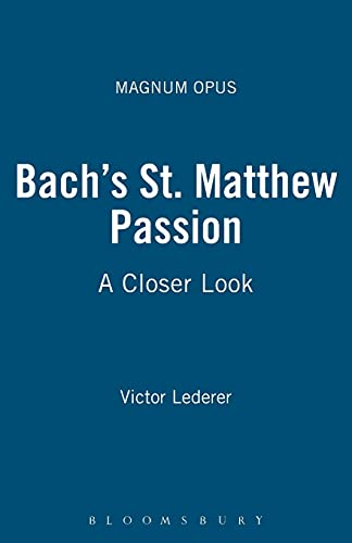 """Bach's """"St. Matthew Passion"""" By Victor Lederer"""