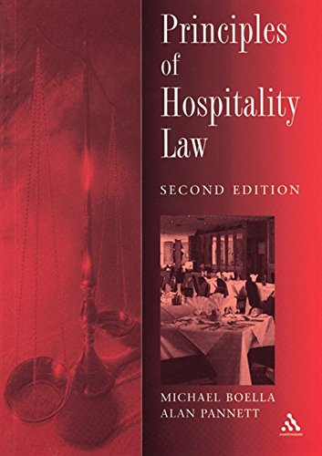 Principles of Hospitality Law By Mike Boella (University of Brighton)