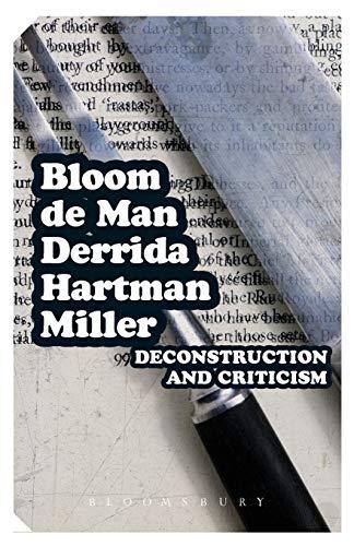 Deconstruction and Criticism par Prof. Harold Bloom