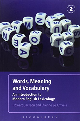 Words, Meaning and Vocabulary By Howard Jackson