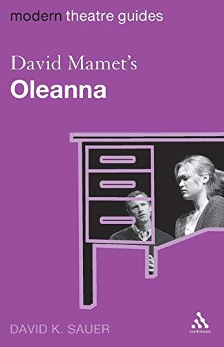 David Mamet's Oleanna By David Sauer