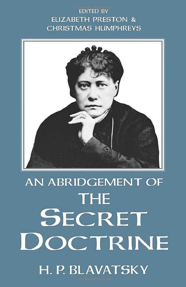 Secret Doctrine By H. P. Blavatsky