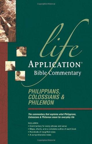 Philippians, Colossians, Philemon By Bruce B Barton