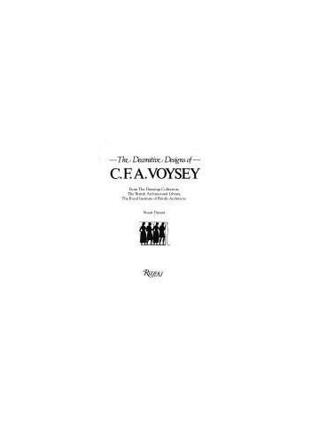 Decorative Designs of C F a Voysey By Durant