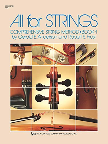 All for Strings Book 1 String Bass By Robert Frost