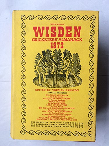 Wisden Cricketers' Almanack By Volume editor Norman Preston