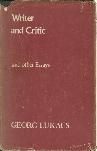 Writer and Critic By Georg Lukacs
