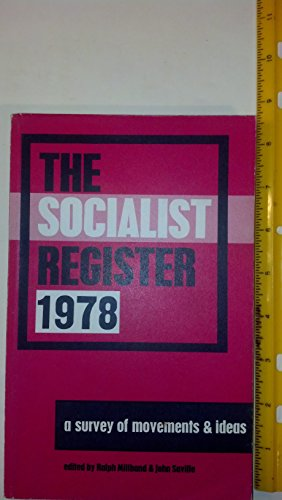 Socialist Register By Volume editor Ralph Miliband