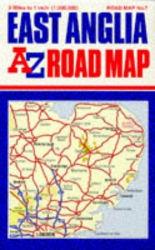 East Anglia Road Map By Geographers' A-Z Map Company