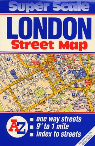 Super Scale Map of London By Geographers' A-Z Map Company