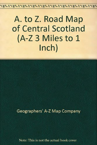 A. to Z. Road Map of Central Scotland By Geographers' A-Z Map Company