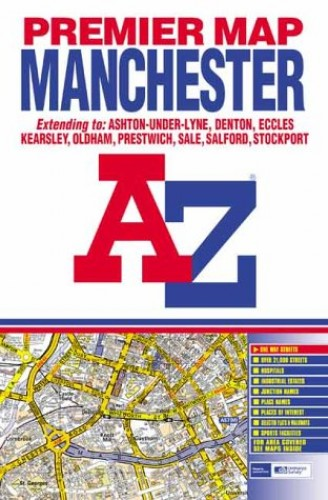 Premier Map of Manchester By Geographers' A-Z Map Company
