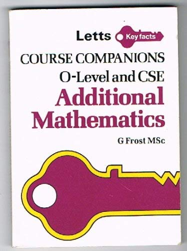 Additional Mathematics By A.George Frost