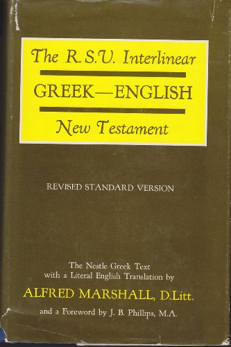 New Testament By Volume editor Alfred Marshall