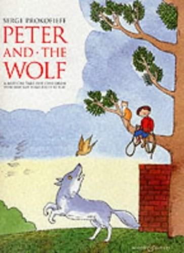 Peter and the Wolf Children's Book with Easy Piano Pieces By S.S. Prokof'ev