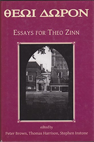 Essays in Honour of Theo Zinn By Stephen Instone