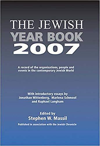 Jewish Year Book By Stephen W. Massil