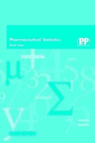 Pharmaceutical Statistics By David Jones
