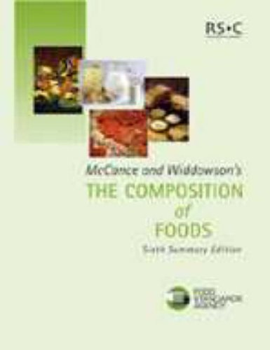 McCance and Widdowson's the Composition of Foods: Summary Edition (6th Edition) By Great Britain: Food Standards Agency