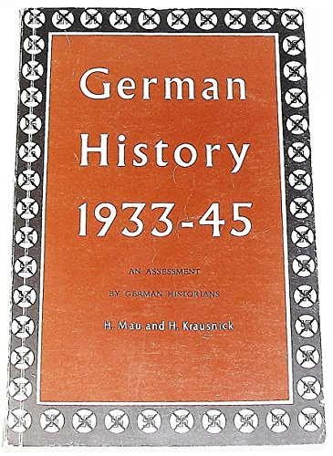 German History 1933-1945 By Hermann Mau